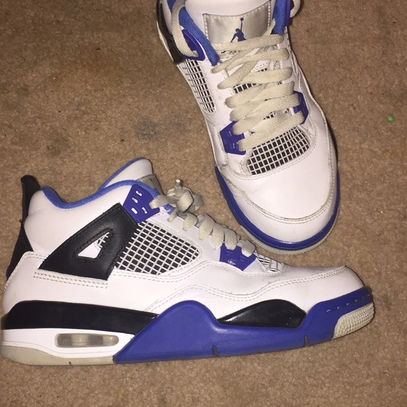 great fit 99cd2 587b6 Jordans ; retro 4's (blue & white)